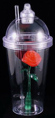BEAUTY AND THE BEAST Light Up ENCHANTED ROSE TUMBLER Cup DISNEY PARKS EXCLUSIVE