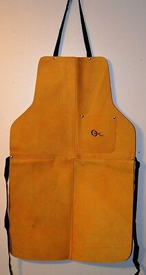 33 High Quality Heavy Duty Split Leather Welding Bib Apron With Pocket - New