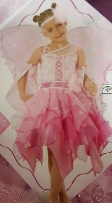 Petal Fairy Dress - Teetot Pink Petal Fairy Deluxe Dress with accessories  Age 5-6