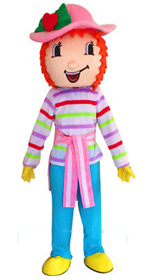 ADS Strawberry Shortcake Girl Mascot Xmas Costume Cosplay Party Dress Adult Suit