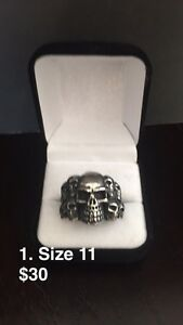 Stainless Steel Skull Rings-NEW
