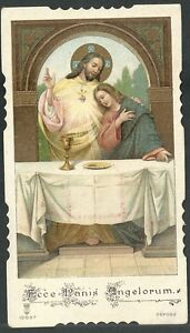 Estampa-antigua-Ecce-Panis-Angelorum-andachtsbild-santino-holy-card-santini