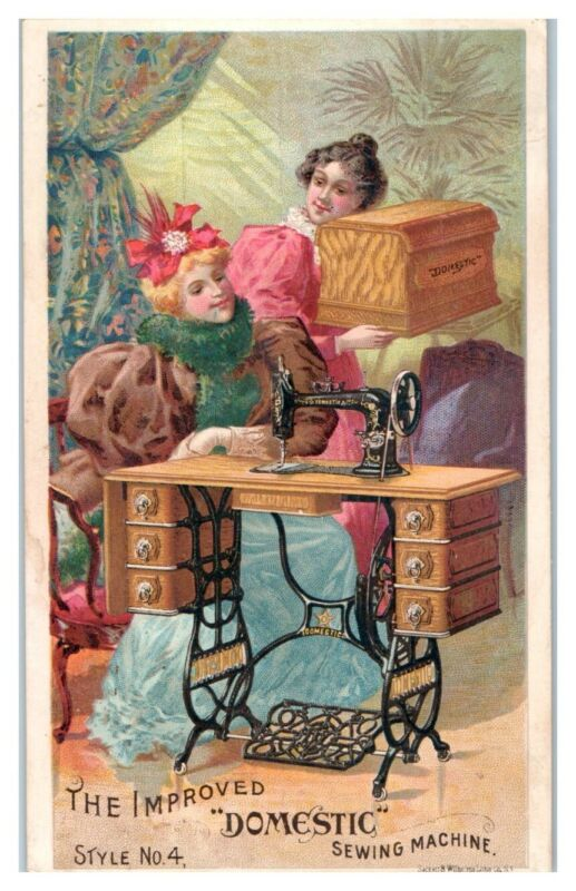 The Improved Domestic Sewing Machine Style No. 4 Victorian Trade Card *VT18