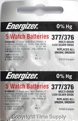 10 pcs 377 / 376 Energizer Watch Batteries SR626SW SR626 0%Hg