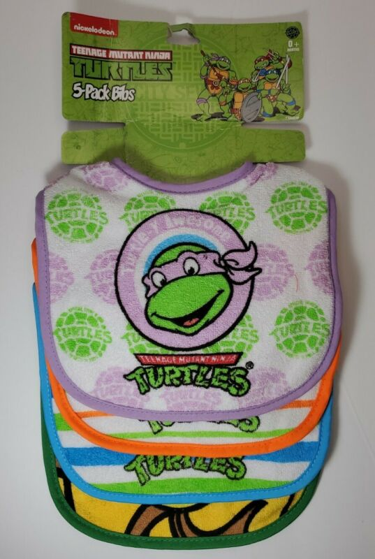 Teenage Mutant Ninja Turtles * TMNT 5-Pack Bibs * Baby * Nickelodeon
