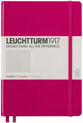 Leuchtturm1917 Medium A5 Squared Hardcover Notebook Berry - 249 Numbered Pages