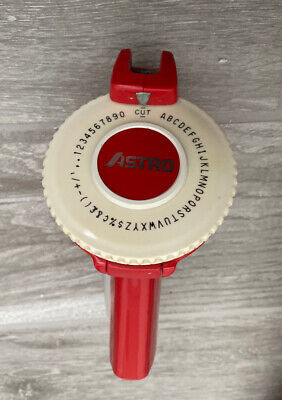 Vintage Red Astro Rotex Label Maker. Works Great