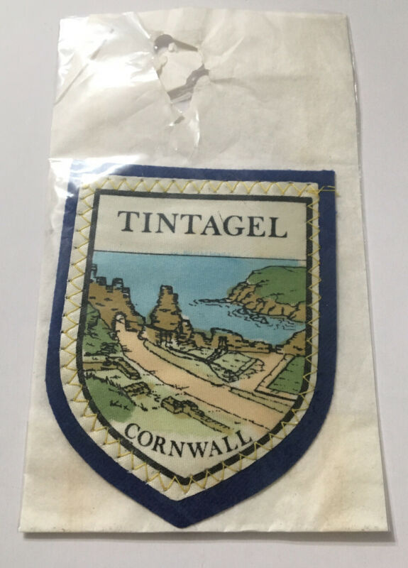 NOS Vintage TINTAGEL Cornwall Souvenir Patch