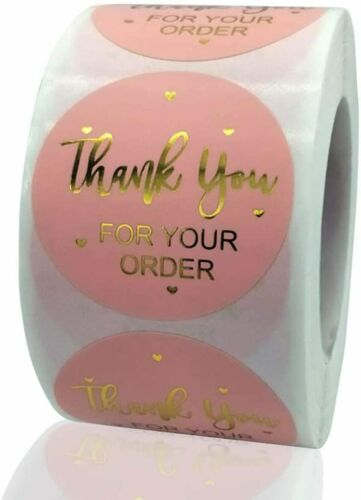 """30 THANK YOU FOR YOUR ORDER SMALL BUSINESS SEALS LABEL STICKERS 1"""" ROUND"""