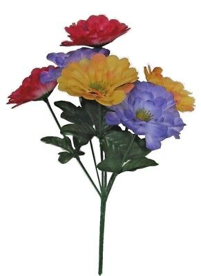 Flower Picks ((Pack of 12) Zinnia Silk Flower Pick Spray 13