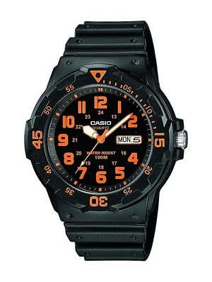 Casio Collection Herren Sport Armbanduhr Analog Neo-Display Resingehäuse  Casio Herren Orange Uhren