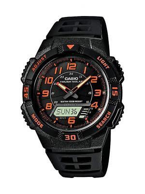 Casio Herren Solar Armbanduhr Retro Analog Armband Solaruhr für Männer schwarz