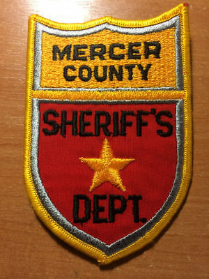 Vintage Patch Police Sheriff Mercer County Nd North Dakota State