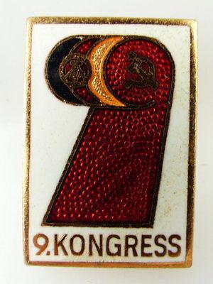 Abzeichen: 9. Kongress DDR e1514