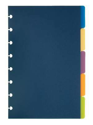 Tul Discbound Tab Dividers Junior Size Assorted Colors 5 Tabs