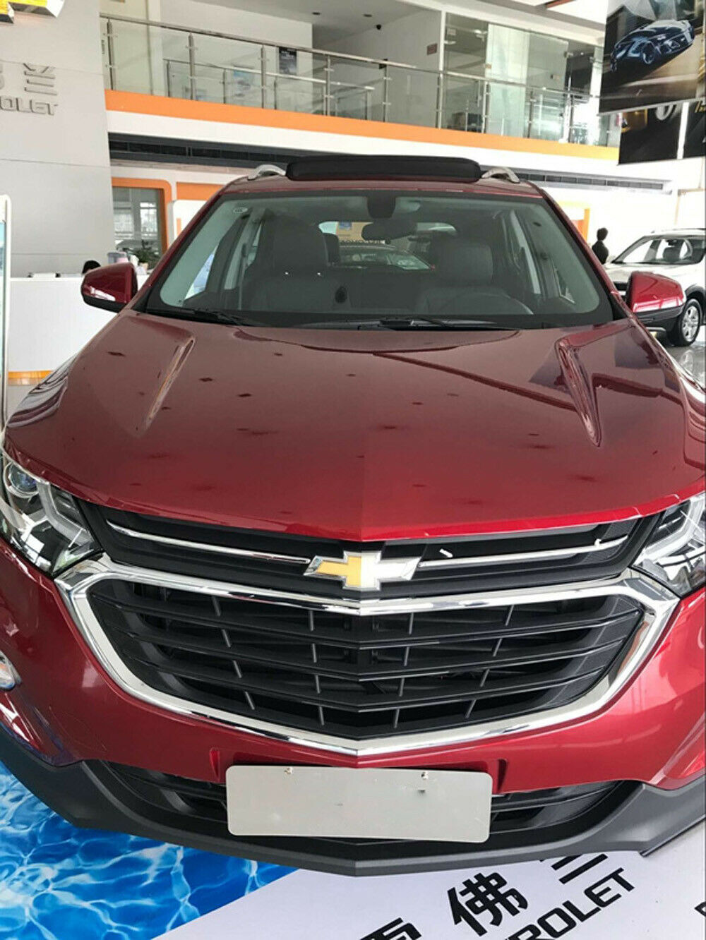 For Chevrolet Equinox 2018-2019 ABS Chrome Front Grill Grille Trim Cover