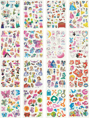 Temporary Tattoos for Kids, 200 Designs, 16 Sheets, 4.8x3.4 inches (Girl)