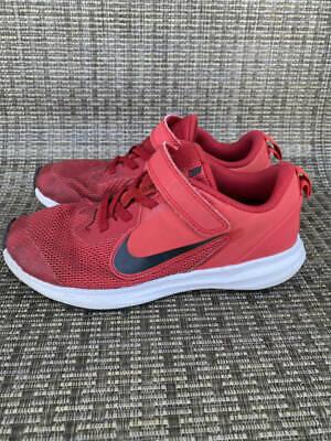 Boys Nike Downshifter 9 Shoes Sz. 1y Red Black