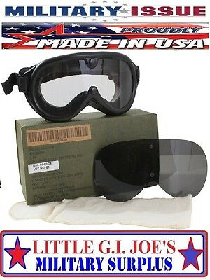 NEW ( Military Issue ) G.I. Ballistic Goggles Lenses Sun,Wind & Dust Goggles