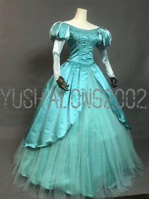 riel Disney Cosplay Costume Abend Kleid Kostüm Princess V5 (Ariel Disney Kleid)