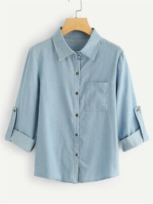 Women Denim Jacket Long Sleeve Loose Fit Casual Jean Coats Outwear Top Plus Size