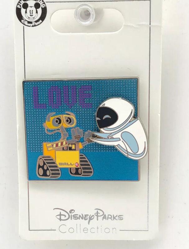 Disney Parks Trading Pixar Wall-E and Eve Love 3D Pin Wall E