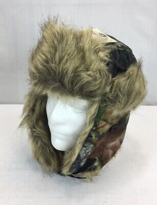 594b0d85e76 Mossy Oak Mens Camo Trapper Hat Winter Cap Ear Flaps Hunting New
