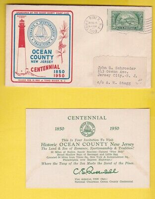 OCEAN COUNTY NEW JERSEY CENTENNIAL TOMS RIVER, NJ FEBRUARY 15 1950 (Toms River New Jersey County)