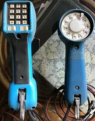 Vintage Harris Dracon Butt Test Phones Ts21 Lineman Bell Systems
