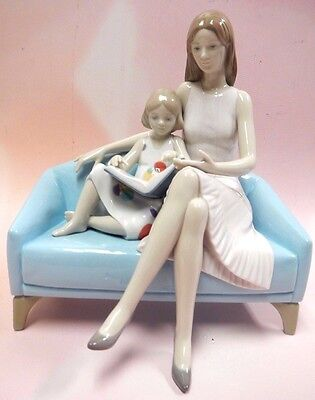 OUR READING MOMENT - MOTHER AND DAUGHTER LOVE 2016 BY LLADRO PORCELAIN #9225