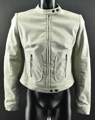 Ilse Jacobsen Hornbeak Women`s Jacket Beige Zip Neck Long Sleeve Coat Size S