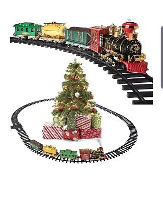 Lux Electric Christmas Train Tracks Set Lights Sound Kids Toy Gift Tree Decor