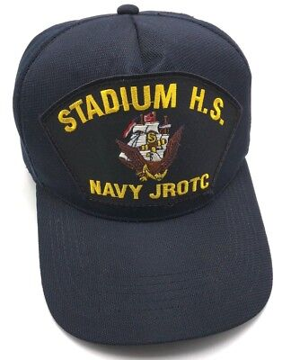 STADIUM HIGH SCHOOL NAVY JROTC blue adjustable cap / hat - Made in USA