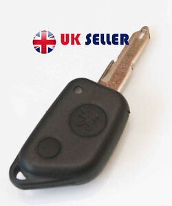 Peugeot 106 205 206 306 405 406   2 BUTTON  Remote Key FOB CASE BLADE NEW