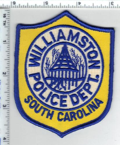 Williamston Police (South Carolina) Shoulder Patch from the 1980