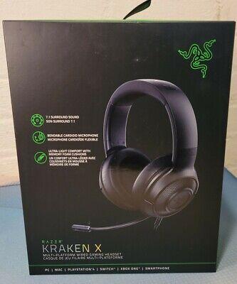 Razer Kraken X Lite Gaming Headset - 7.1 Surround Sound - Classic Black