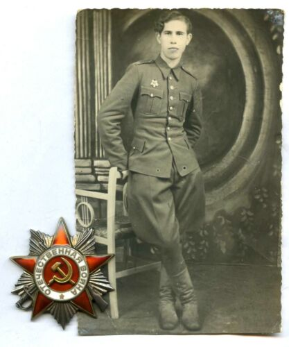 Soviet Red ARMY WW2 ORDER Patriotic War 2nd cl #564969 for Polish Officer +Photo