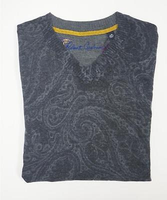 NEW $298 ROBERT GRAHAM WOOL CASHMERE AARON GRAYISH PURPLE PAISLEY SWEATER SZ XL