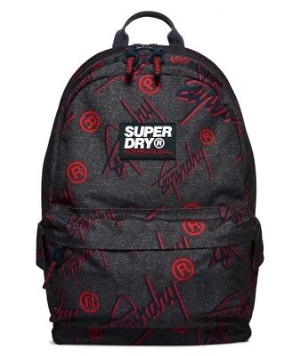 SUPERDRY BACKPACK RARE GREY SUPER CREW MONTANA BOOKBAG HARD TO FIND BAG