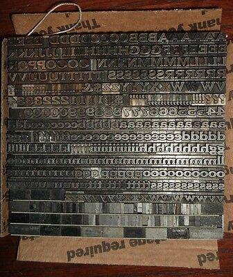 Antique 18pt Cheltenham Inline Ext. Letterpress Foundry Type Printing Vintage