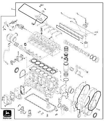 John Deere 4960 Major Engine Overhaul Kit