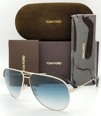 New Tom Ford Erin sunglasses FT0466/S 29P 61 Gold Blue Gradient GENUINE Aviator