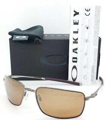 NEW Oakley Square Wire sunglasses 4075-06 Tungsten Iridium Polarized AUTHENTIC