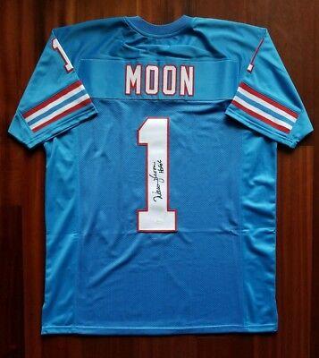 e8997640e6c Warren Moon Autographed Signed Jersey Houston Oilers JSA
