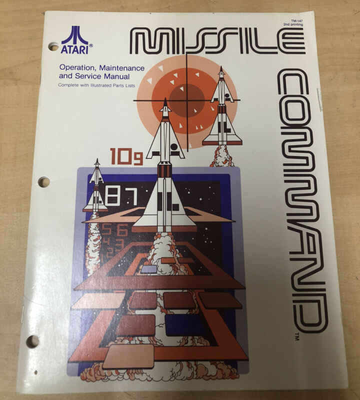 Missile Command Arcade Service And Parts Manual