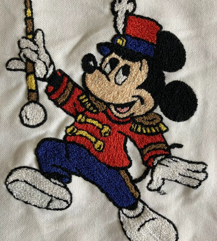 Completed Matsuhato Embroidery Disney Mickey Mouse Marching Band Bunka 175 12x9