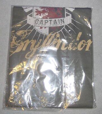 Harry Potter Hanes T-Shirt Gr L Gryffindor Quidditch Captain  Neu OVP Hemd