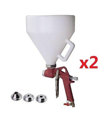 3 Nozzle Air Hopper Spray Gun Paint Texture Tool Drywall Wall Painting Sprayer 2 Business & Industrial