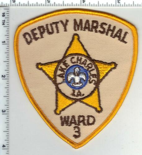 Lake Charles Deputy Marshal (Iowa) Ward 3 Shoulder Patch - new from the 1980