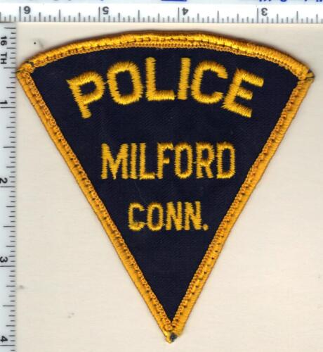 Milford Police (Connecticut) Uniform Take-Off Shoulder Patch - from early 1980